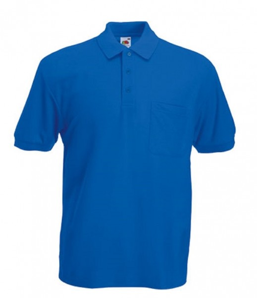 Pocket Polo F532, royal blue.
