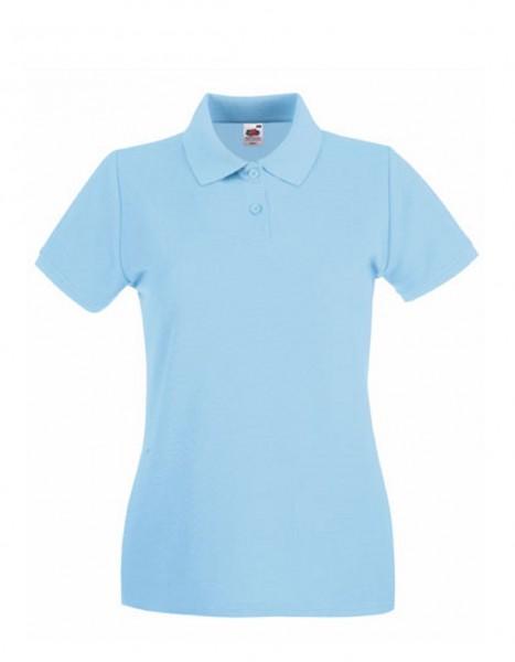 Damen Polo Lady-Fit: sky blue.
