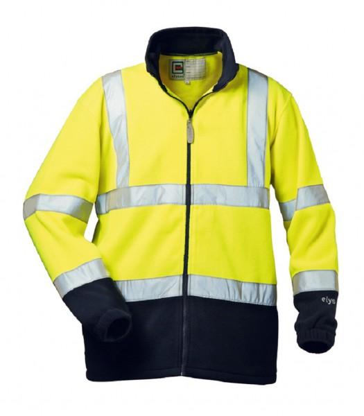 ELYSEE Warnschutz Fleece-Jacke VALENTIN gelb/marine