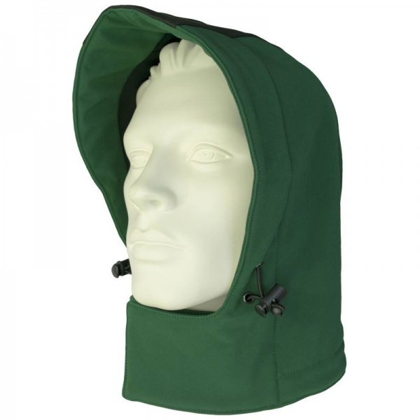 Kapuze grün/schwarz
