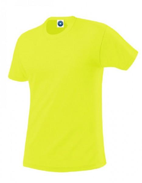 Performance T-Shirt mit UV-Schutz, floureszend yellow.